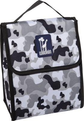 Wildkin Olive Kids Lunch Bag Grey Camo - Wildkin Travel Coolers