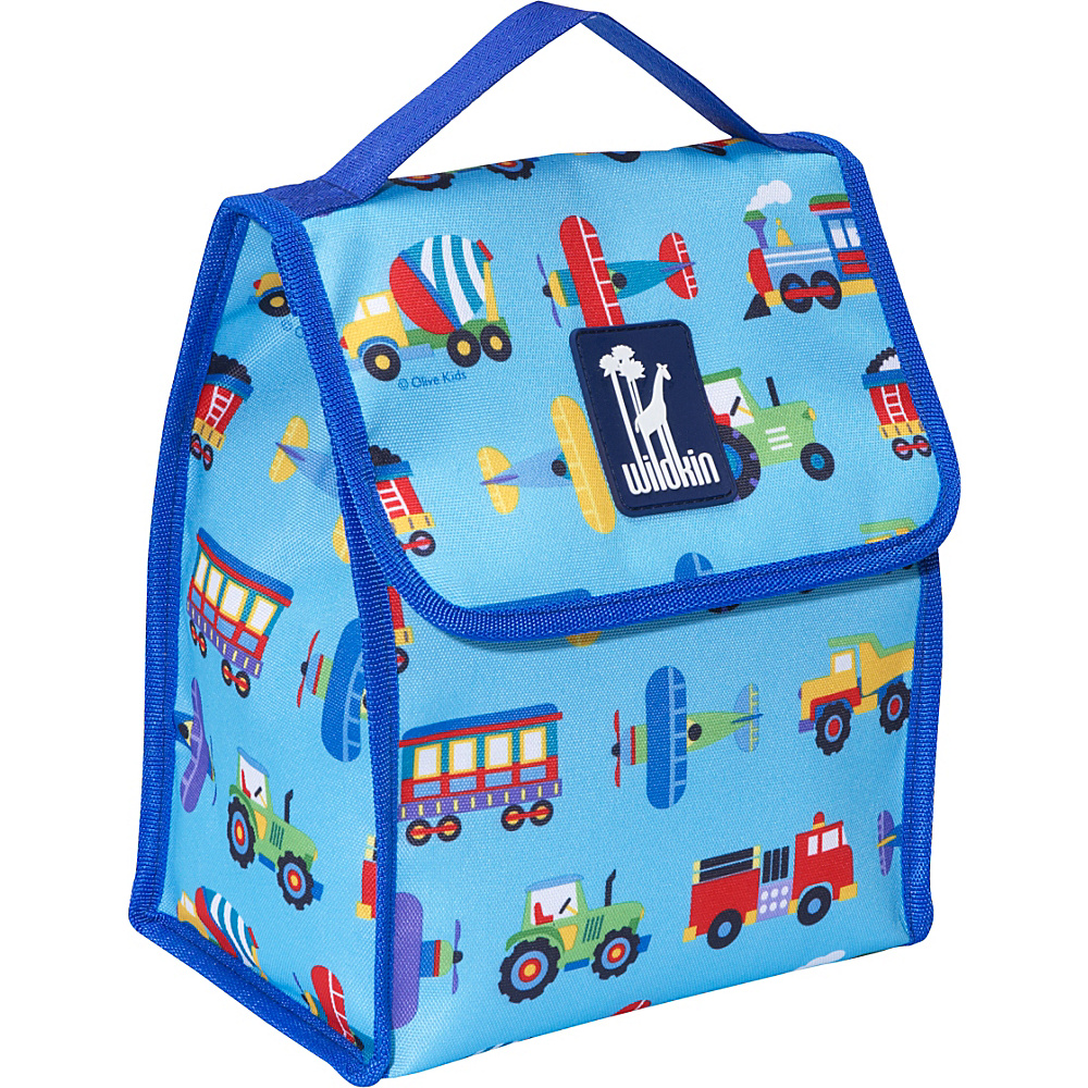 Wildkin Olive Kids Lunch Bag Trains Planes Trucks - Wildkin Travel Coolers - Travel Accessories, Travel Coolers