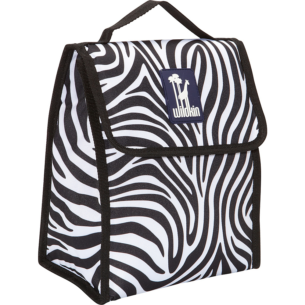 Wildkin Olive Kids Lunch Bag Zebra - Wildkin Travel Coolers