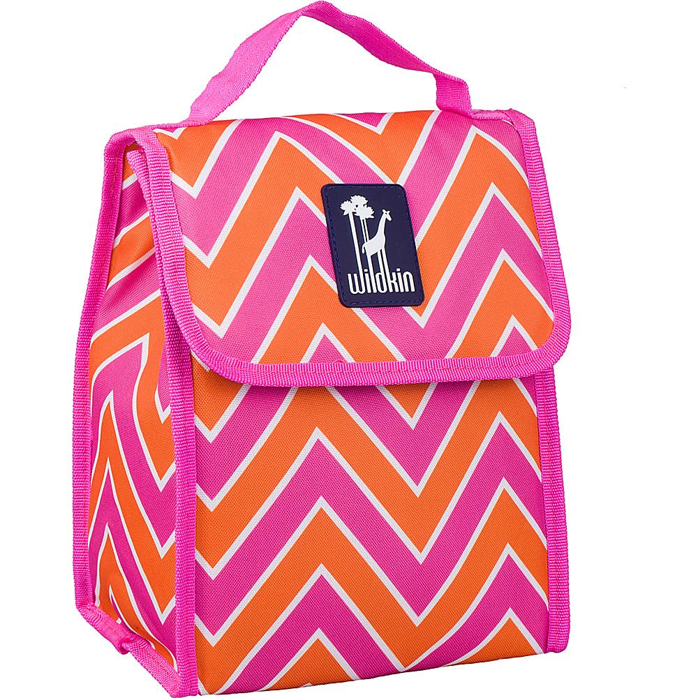 Wildkin Munch n Lunch Bag Zigzag Pink Wildkin Travel Coolers