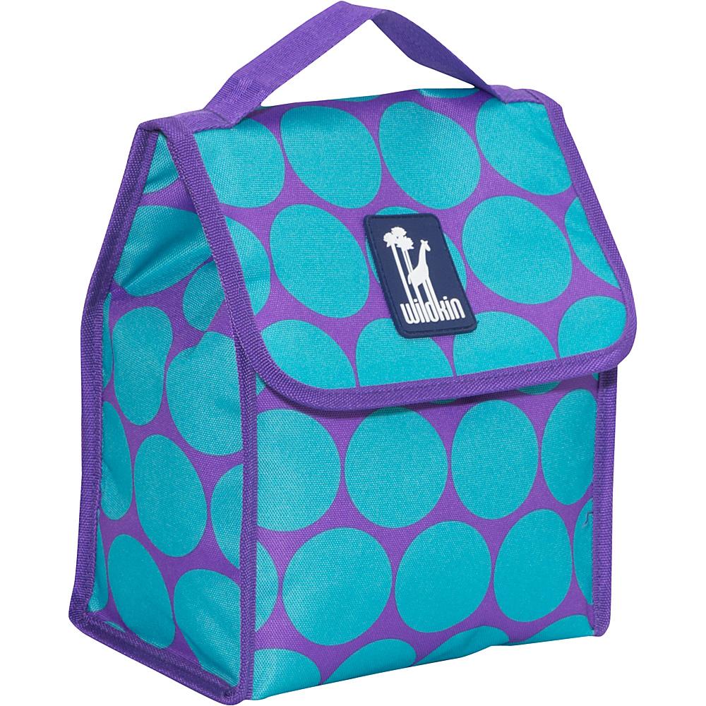 Wildkin Olive Kids Lunch Bag Big Dots Aqua - Wildkin Travel Coolers - Travel Accessories, Travel Coolers