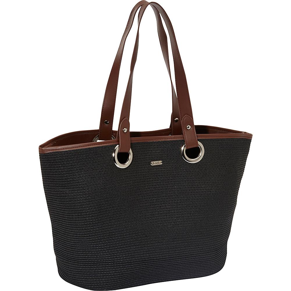 Sun 'N' Sand Tutti Frutti Black - Sun 'N' Sand Straw Handbags