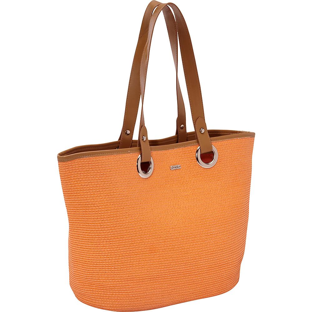 Sun 'N' Sand Tutti Frutti Salmon - Sun 'N' Sand Straw Handbags