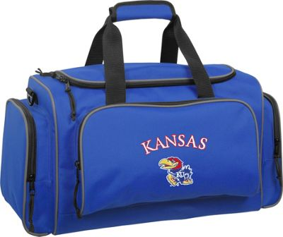 Wally Bags University of Kansas Jayhawks 21 inch Collegiate Duffel Royal - Wally Bags Rolling Duffels