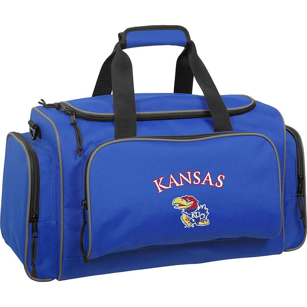 Wally Bags University of Kansas Jayhawks 21 Collegiate Duffel Royal Wally Bags Rolling Duffels