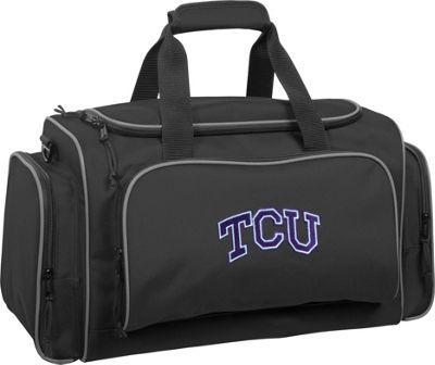 Wally Bags Texas Christian University Horned Frogs 21 inch Collegiate Duffel Black - Wally Bags Rolling Duffels