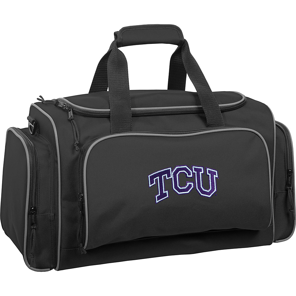 Wally Bags Texas Christian University Horned Frogs 21 Collegiate Duffel Black Wally Bags Rolling Duffels