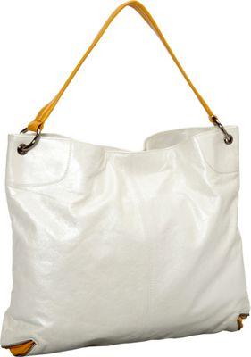 Latico Leathers Jackie Tote Metallic White/Gold - Latico Leathers Leather Handbags