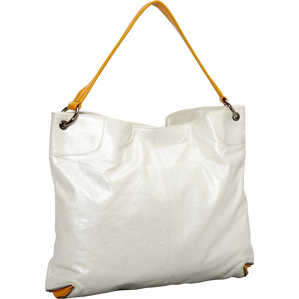 Latico Leathers Jackie Tote Metallic White/Gold - Latico Leathers Leather Handbags - Handbags, Leather Handbags