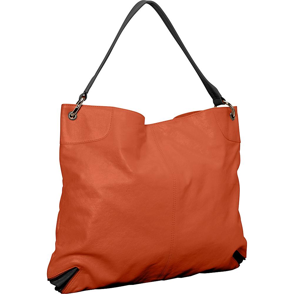 Latico Leathers Jackie Tote Salmon/Espresso - Latico Leathers Leather Handbags - Handbags, Leather Handbags