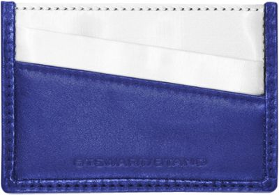 Stewart Stand Color Block Collection Card Stainless Steel Wallet  - RFID Cobalt Blue / Black - Stewart Stand Women's Wallets