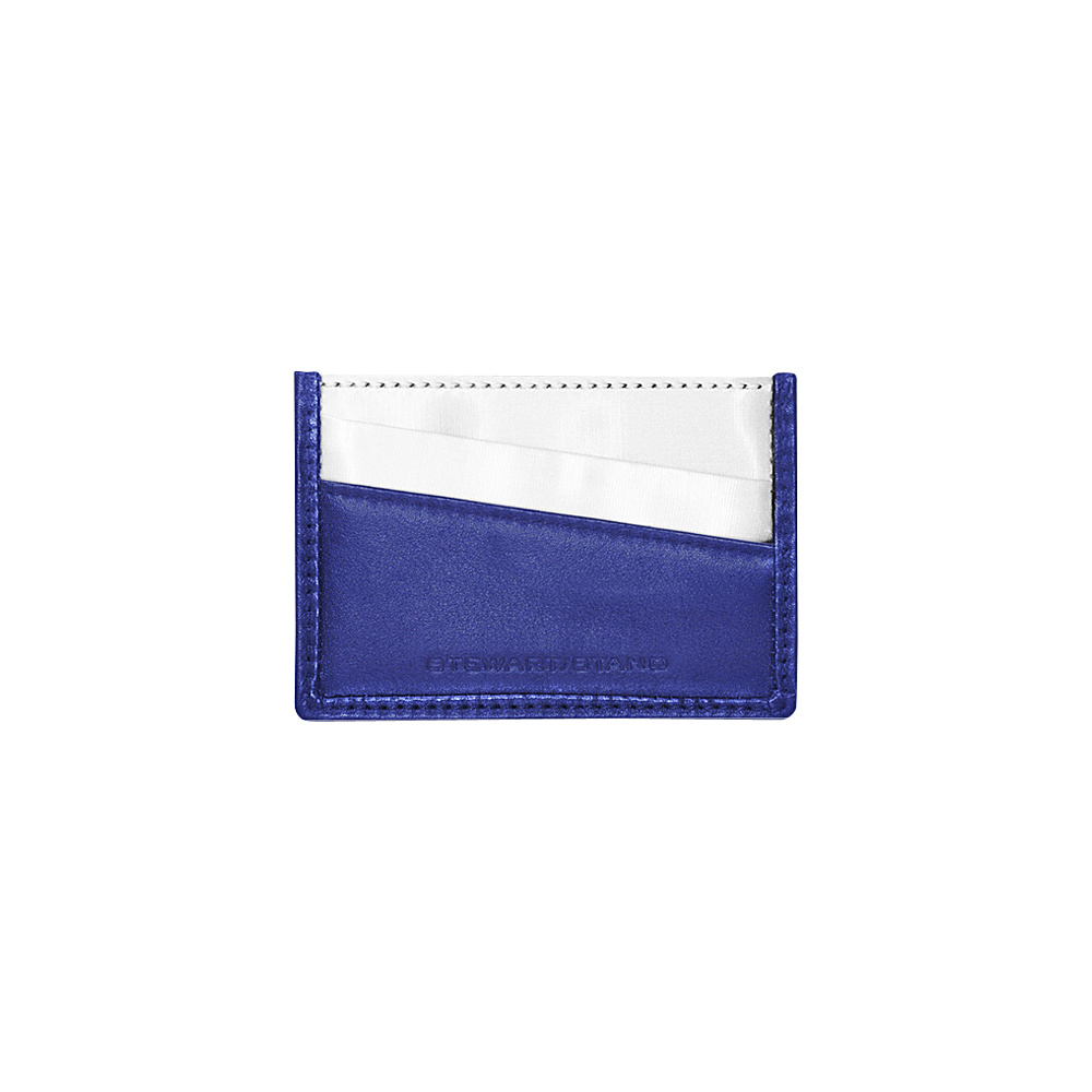 Stewart Stand Color Block Collection Card Stainless Steel Wallet RFID Cobalt Blue Black Stewart Stand Women s Wallets