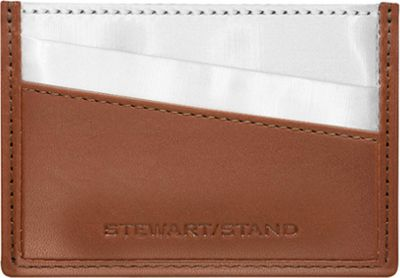Stewart Stand Stewart Stand Color Block Collection Card Stainless Steel Wallet  - RFID Tan - Stewart Stand Women's Wallets