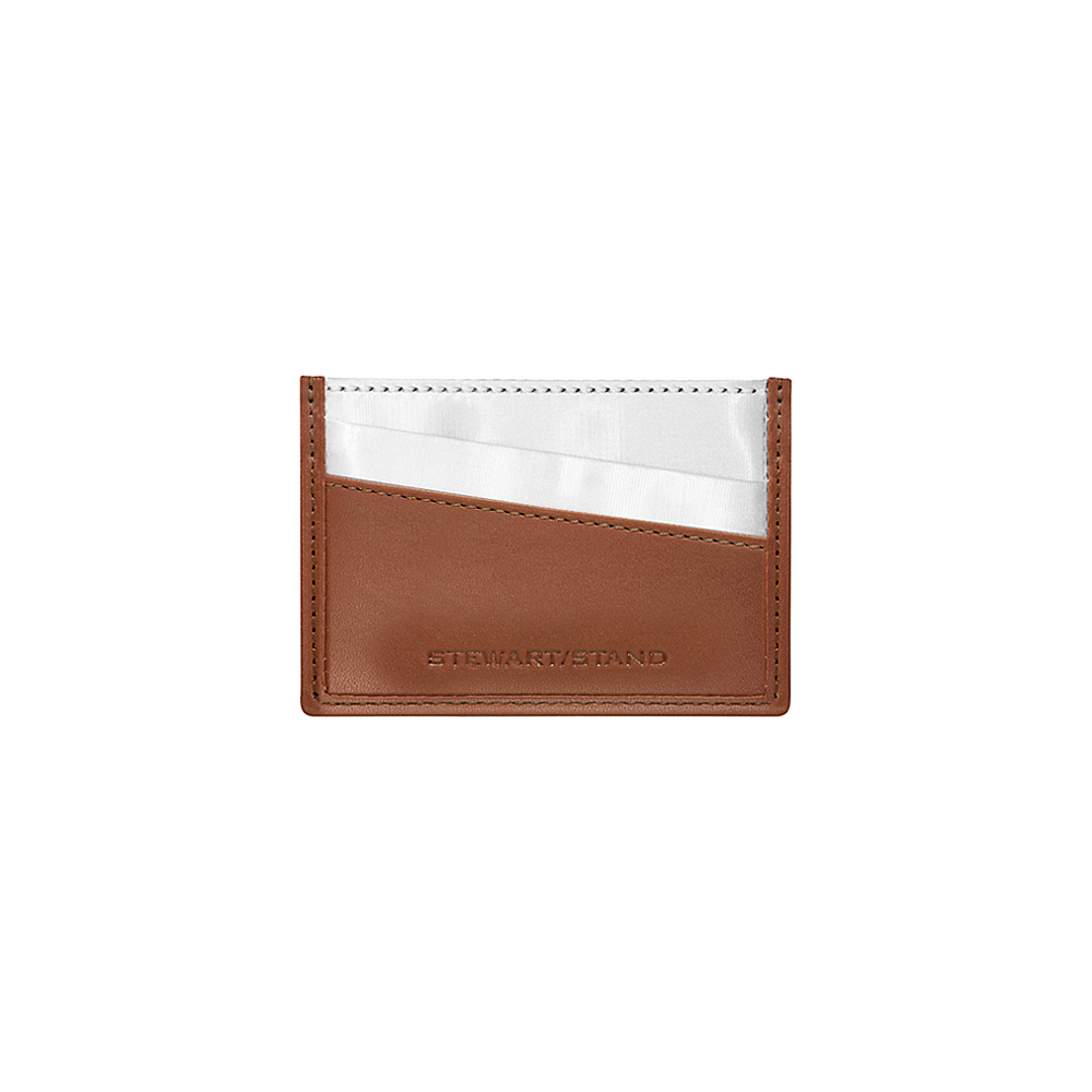 Stewart Stand Color Block Collection Card Stainless Steel Wallet RFID Tan Stewart Stand Women s Wallets