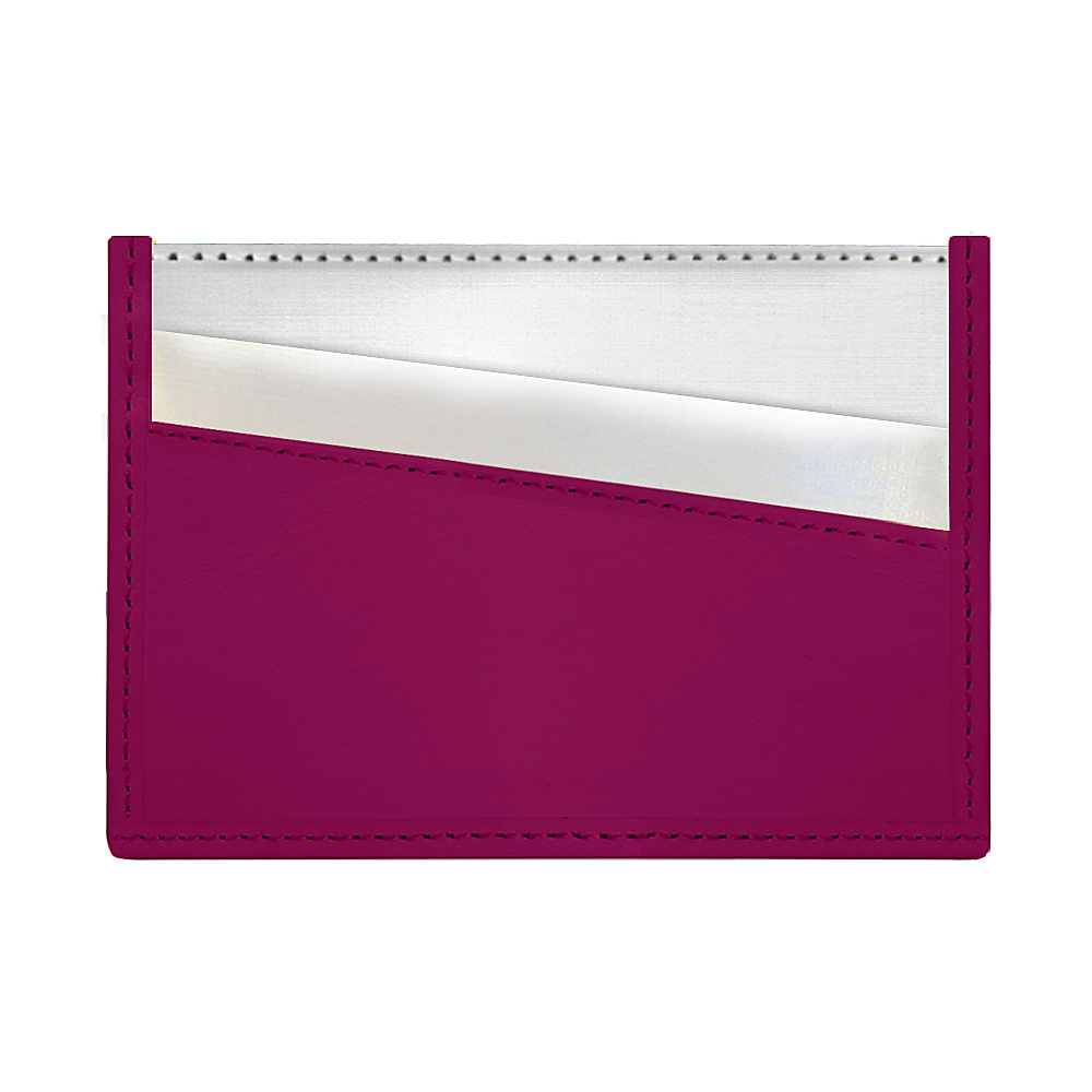 Stewart Stand Color Block Collection Card Stainless Steel Wallet RFID Berry Stewart Stand Women s Wallets
