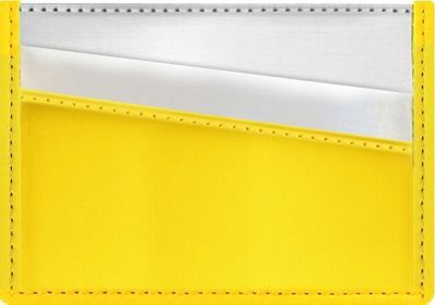 Stewart Stand Stewart Stand Color Block Collection Card Stainless Steel Wallet  - RFID Yellow - Stewart Stand Women's Wallets