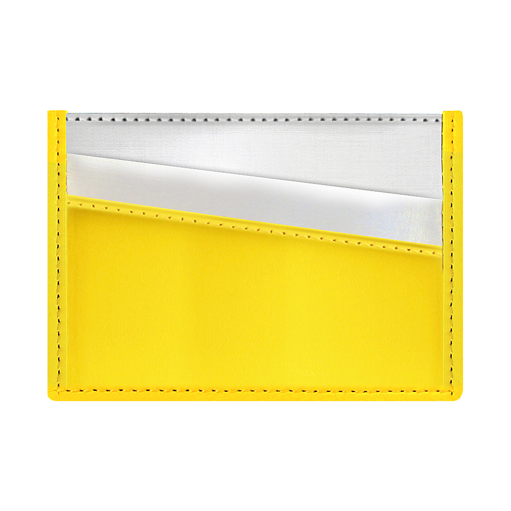 Stewart Stand Color Block Collection Card Stainless Steel Wallet RFID Yellow Stewart Stand Women s Wallets