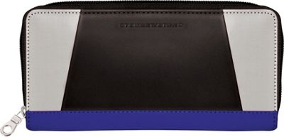 Stewart Stand Zipper Stainless Steel Wallet - RFID Cobalt Blue / Black - Stewart Stand Women's Wallets