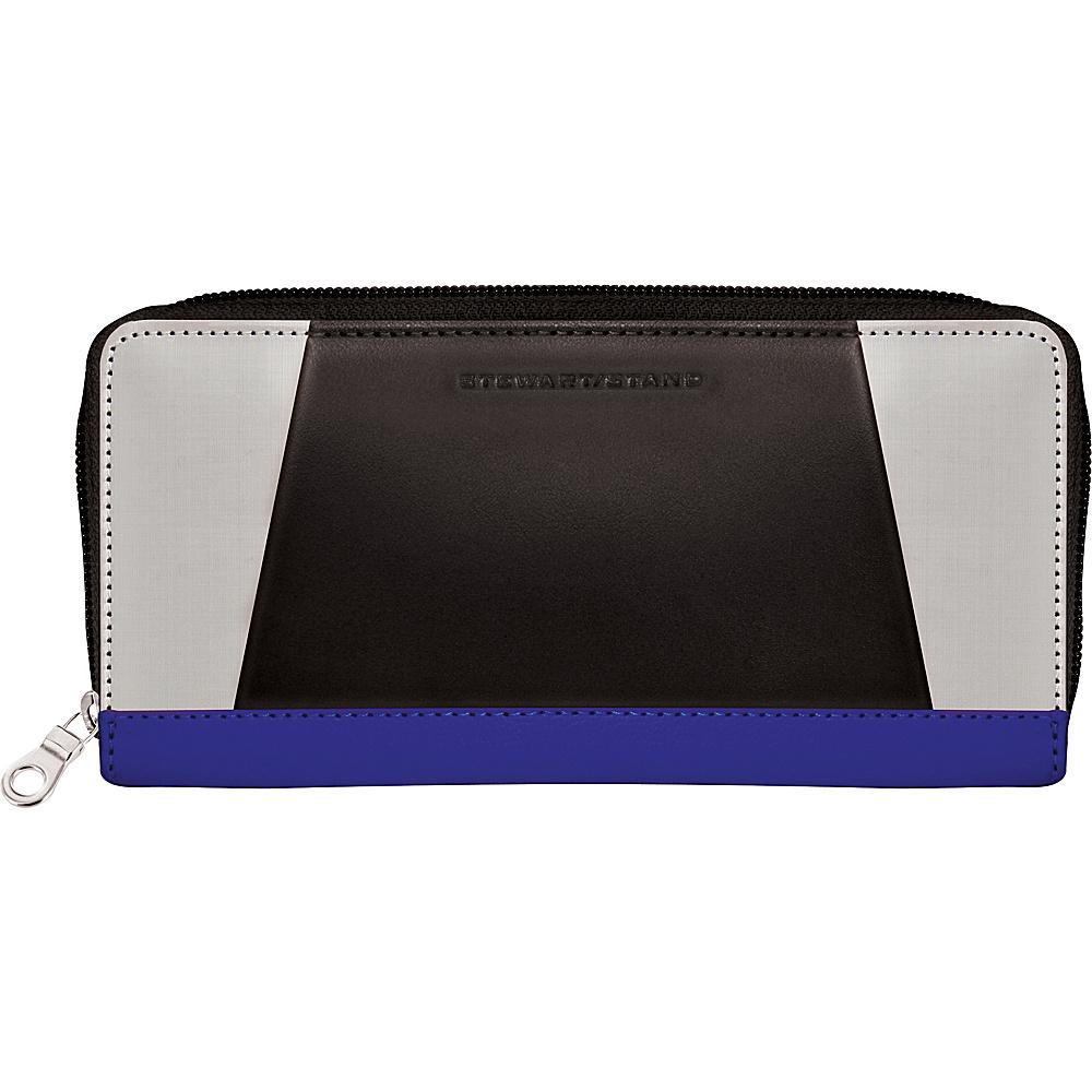 Stewart Stand Zipper Stainless Steel Wallet RFID Cobalt Blue Black Stewart Stand Women s Wallets