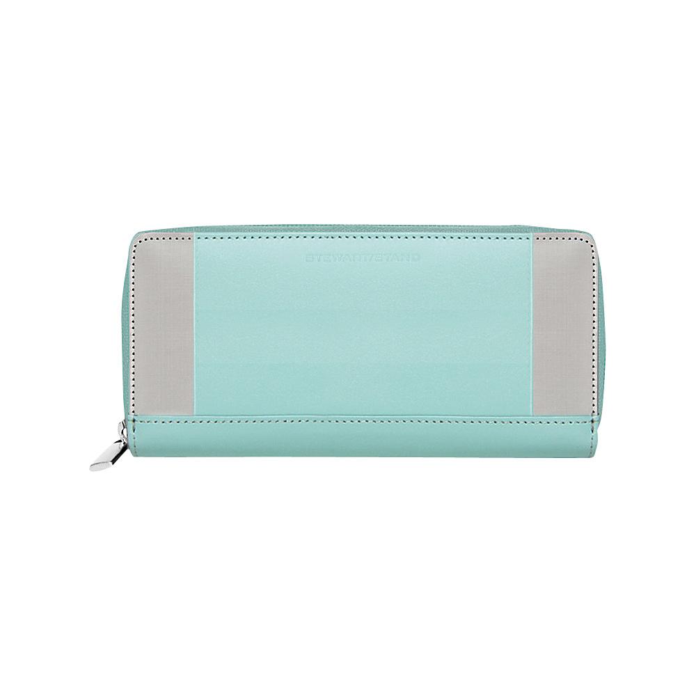 Stewart Stand Zipper Stainless Steel Wallet RFID Jade Stewart Stand Women s Wallets