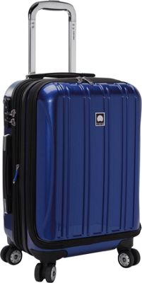 Delsey Helium Aero International Carry On Expandable Spinner Trolley - 19 inch Blue - Delsey Hardside Carry-On