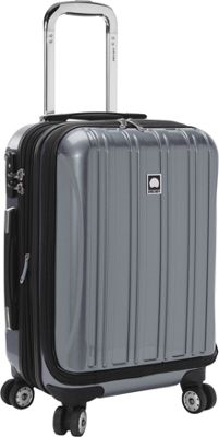Delsey Helium Aero International Carry On Expandable Spinner Trolley - 19 inch Titanium - Delsey Hardside Carry-On
