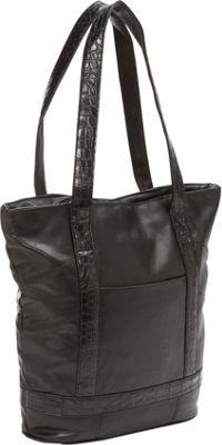Bellino Leather Laptop Tote Black - Bellino Women's Business Bags