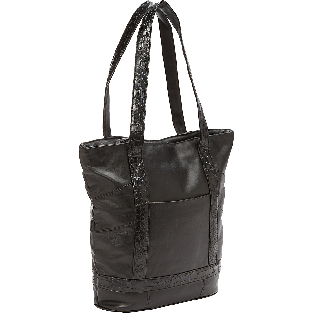 Bellino Leather Laptop Tote Black - Bellino Women's Business Bags