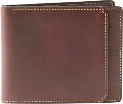 Boconi Bryant RFID Slimfold Antique Mahogany with Houndstooth - Boconi Men's Wallets