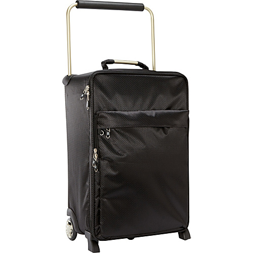 IT Luggage Worlds Lightest IT-0-1 Second Generation 22 Carry-On Black - IT Luggage Small Rolling Luggage