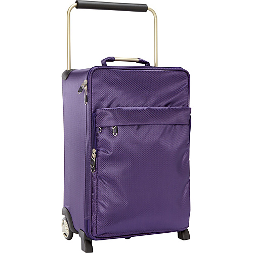 IT Luggage Worlds Lightest IT-0-1 Second Generation 22 Carry-On Purple - IT Luggage Small Rolling Luggage