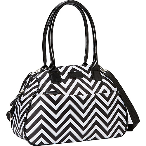 Sachi Insulated Lunch Bags Style 173 Lunch Bag Black & White Chevron - Sachi Insulated Lunch Bags Travel Coolers