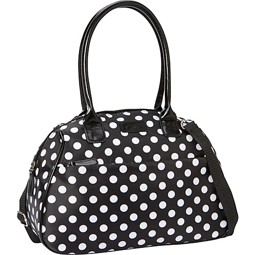 Sachi Insulated Lunch Bags Style 173 Lunch Bag Black & White Polka Dot - Sachi Insulated Lunch Bags Travel Coolers