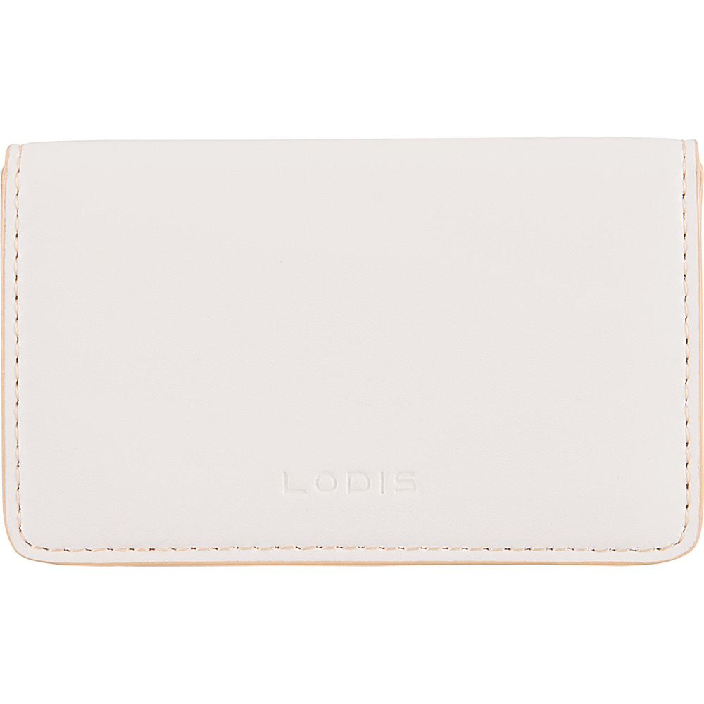 Lodis Audrey RFID Mini Card Case Cream/Natural - Lodis Womens SLG Other - Women's SLG, Women's SLG Other