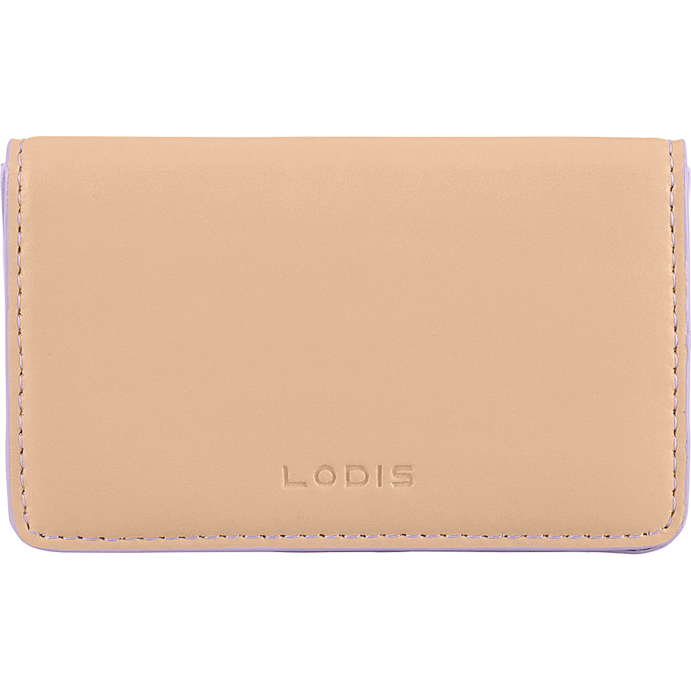 Lodis Audrey RFID Mini Card Case Natural/Lavender - Lodis Womens SLG Other - Women's SLG, Women's SLG Other