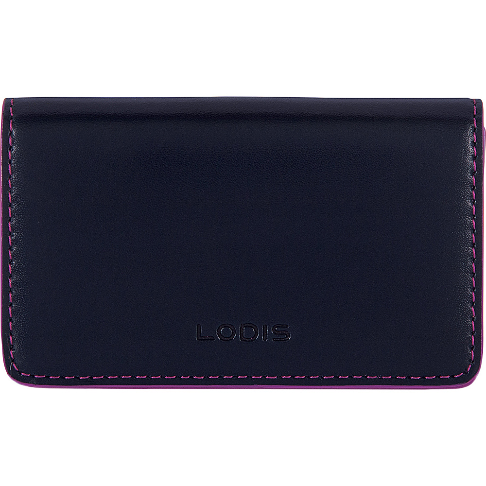 Lodis Audrey RFID Mini Card Case Navy/Orchid - Lodis Womens SLG Other - Women's SLG, Women's SLG Other