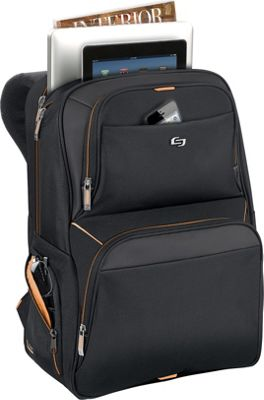 SOLO Urban Thrive Laptop Backpack - 17.3 inch Black - SOLO Business & Laptop Backpacks