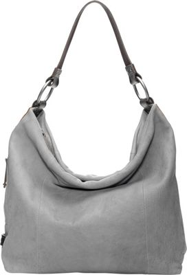 Ellington Handbags Sadie Glazed Hobo Light Gray - Ellington Handbags Leather Handbags