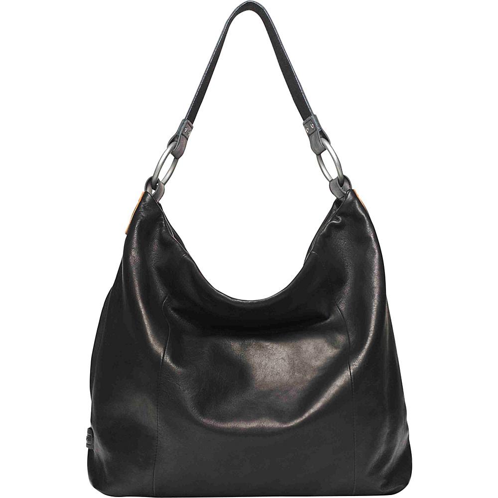 Ellington Handbags Sa Glazed Hobo Black Leather