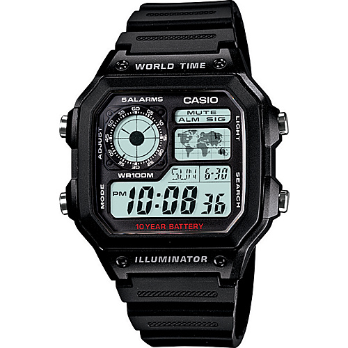 Casio Men's Digital Watch Black - Casio Watches