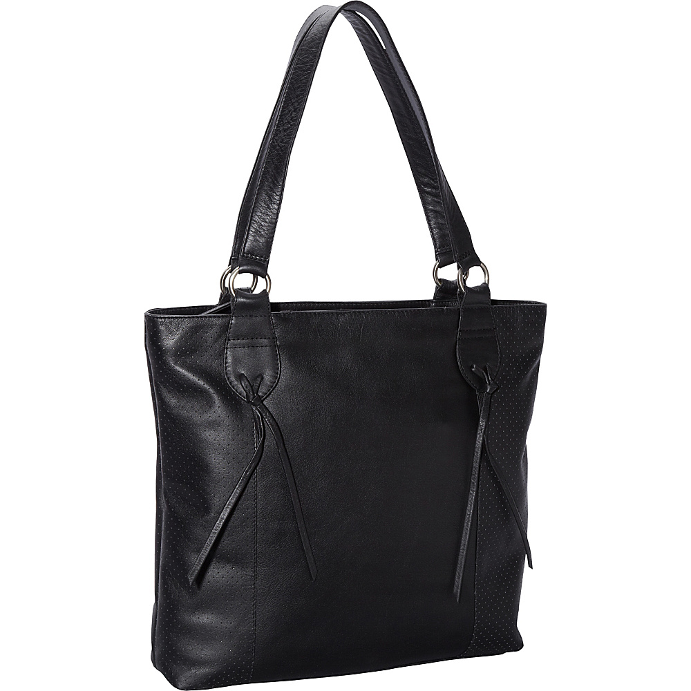 Derek Alexander Top Zip Tote Bag Black - Derek Alexander Leather Handbags