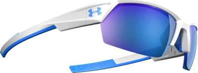 Under Armour Eyewear UA Igniter II Sunglasses White Exterior / Blue Interior / Blue Rubber/ML Bl - Under Armour Eyewear Sunglasses