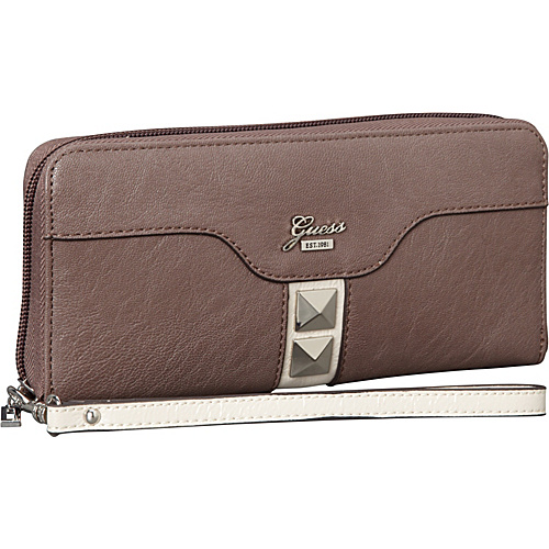GUESS Gladis Large Zip Around Taupe Multi - GUESS Ladies Small Wallets