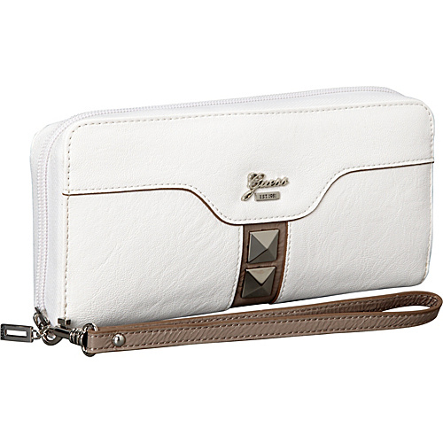 GUESS Gladis Large Zip Around White Multi - GUESS Ladies Small Wallets