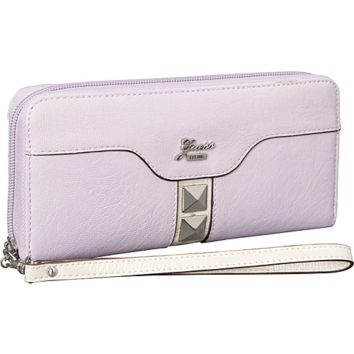 GUESS Gladis Large Zip Around Lilac Multi - GUESS Ladies Small Wallets