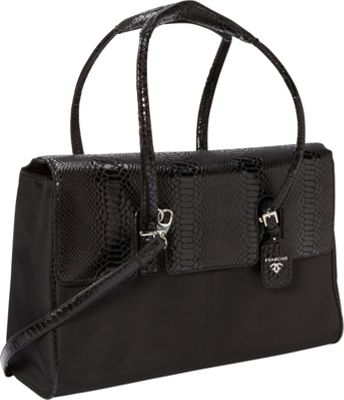 Women In Business Women In Business Francine Collection -  15.6 inch Black Python London Laptop Case Black - Women In Business Women's Business Bags