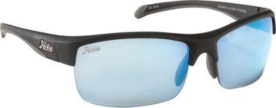 Hobie Eyewear Rockpile Satin Black Frame With Grey / Cobalt Mirror PC Len - Hobie Eyewear Sunglasses