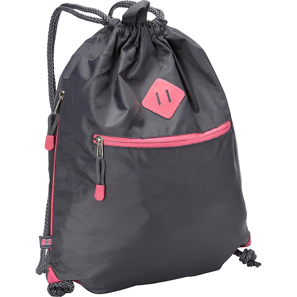 Eastsport Drawstring Sack Pack Graphite - Eastsport School & Day Hiking Backpacks