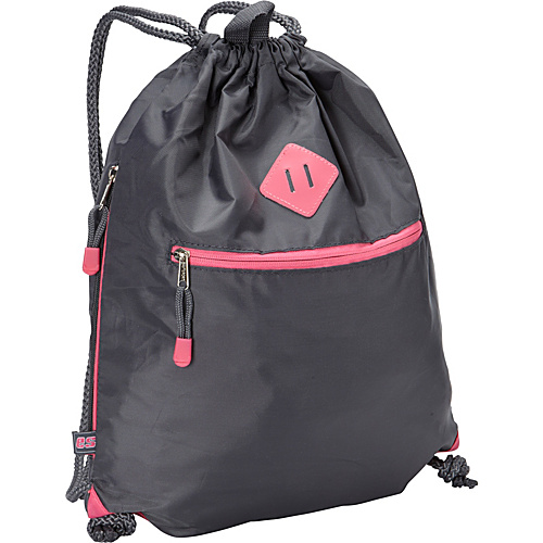 Eastsport Drawstring Sack Pack Graphite - Eastsport School & Day Hiking Backpacks