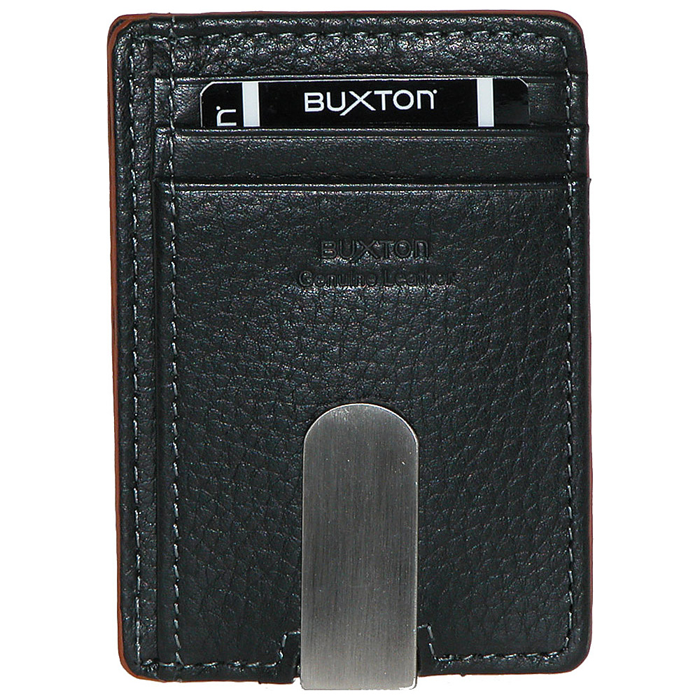 Buxton RFID Front Pocket Money Clip Tan - Buxton Men's Wallets